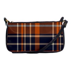 Tartan Background Fabric Design Pattern Shoulder Clutch Bags by Simbadda
