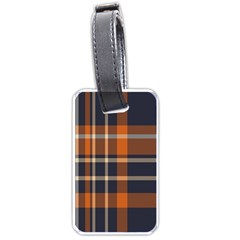 Tartan Background Fabric Design Pattern Luggage Tags (one Side)  by Simbadda
