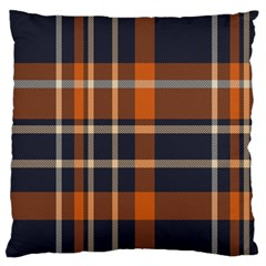 Tartan Background Fabric Design Pattern Large Cushion Case (two Sides)