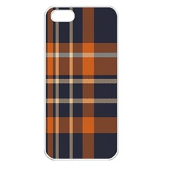 Tartan Background Fabric Design Pattern Apple Iphone 5 Seamless Case (white)