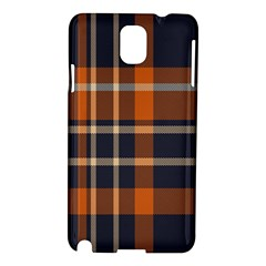 Tartan Background Fabric Design Pattern Samsung Galaxy Note 3 N9005 Hardshell Case by Simbadda