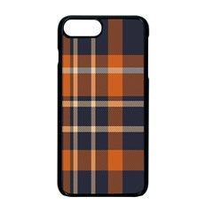 Tartan Background Fabric Design Pattern Apple Iphone 7 Plus Seamless Case (black) by Simbadda