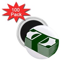 Rich Dollar Money Green 1 75  Magnets (100 Pack)  by Alisyart