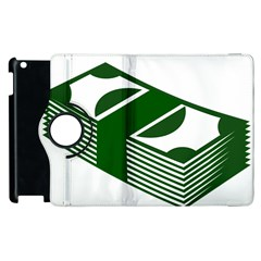 Rich Dollar Money Green Apple Ipad 3/4 Flip 360 Case by Alisyart