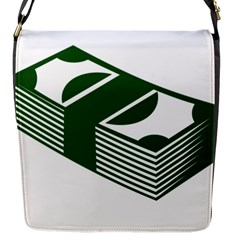 Rich Dollar Money Green Flap Messenger Bag (s) by Alisyart
