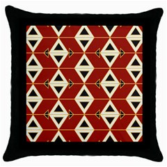 Triangle Arrow Plaid Red Throw Pillow Case (black) by Alisyart