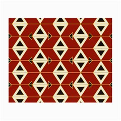 Triangle Arrow Plaid Red Small Glasses Cloth