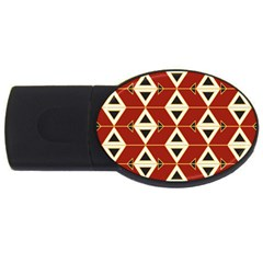 Triangle Arrow Plaid Red Usb Flash Drive Oval (4 Gb) by Alisyart