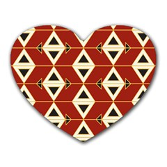 Triangle Arrow Plaid Red Heart Mousepads by Alisyart