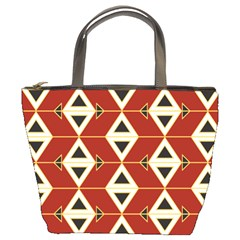 Triangle Arrow Plaid Red Bucket Bags by Alisyart