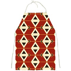 Triangle Arrow Plaid Red Full Print Aprons by Alisyart