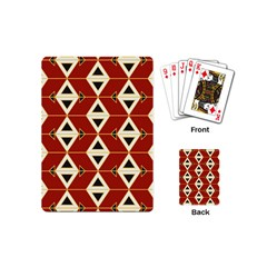 Triangle Arrow Plaid Red Playing Cards (mini)  by Alisyart