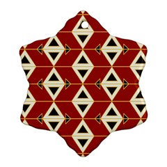 Triangle Arrow Plaid Red Ornament (snowflake) by Alisyart