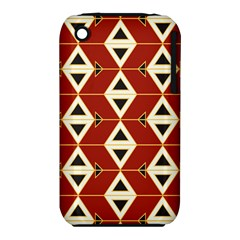 Triangle Arrow Plaid Red Iphone 3s/3gs