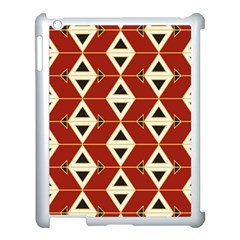 Triangle Arrow Plaid Red Apple Ipad 3/4 Case (white)