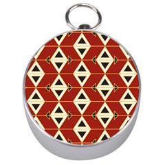 Triangle Arrow Plaid Red Silver Compasses by Alisyart