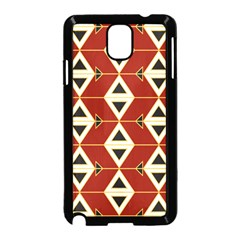 Triangle Arrow Plaid Red Samsung Galaxy Note 3 Neo Hardshell Case (black)