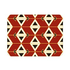 Triangle Arrow Plaid Red Double Sided Flano Blanket (mini)