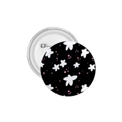 Square Pattern Black Big Flower Floral Pink White Star 1 75  Buttons by Alisyart