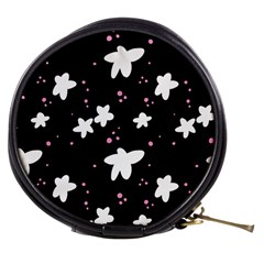 Square Pattern Black Big Flower Floral Pink White Star Mini Makeup Bags
