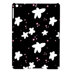 Square Pattern Black Big Flower Floral Pink White Star Ipad Air Hardshell Cases by Alisyart