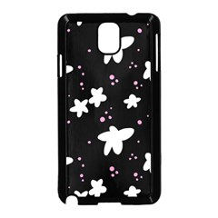 Square Pattern Black Big Flower Floral Pink White Star Samsung Galaxy Note 3 Neo Hardshell Case (black)