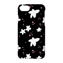 Square Pattern Black Big Flower Floral Pink White Star Apple Iphone 7 Hardshell Case by Alisyart