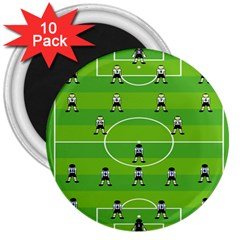 Soccer Field Football Sport 3  Magnets (10 Pack)  by Alisyart