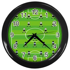 Soccer Field Football Sport Wall Clocks (black) by Alisyart