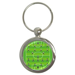 Soccer Field Football Sport Key Chains (round)  by Alisyart