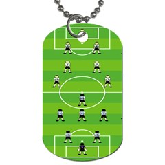 Soccer Field Football Sport Dog Tag (two Sides) by Alisyart