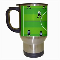 Soccer Field Football Sport Travel Mugs (white) by Alisyart