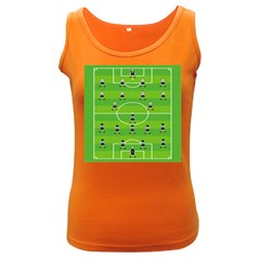 Soccer Field Football Sport Women s Dark Tank Top by Alisyart