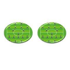 Soccer Field Football Sport Cufflinks (oval) by Alisyart