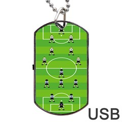 Soccer Field Football Sport Dog Tag Usb Flash (two Sides)