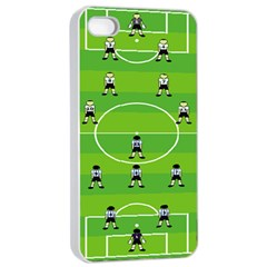Soccer Field Football Sport Apple Iphone 4/4s Seamless Case (white) by Alisyart