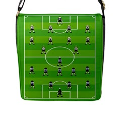 Soccer Field Football Sport Flap Messenger Bag (l)  by Alisyart
