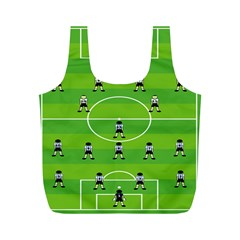 Soccer Field Football Sport Full Print Recycle Bags (m)