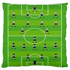 Soccer Field Football Sport Standard Flano Cushion Case (one Side) by Alisyart