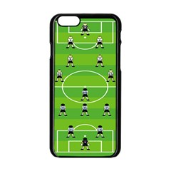 Soccer Field Football Sport Apple Iphone 6/6s Black Enamel Case