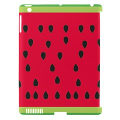Watermelon Fan Red Green Fruit Apple Ipad 3/4 Hardshell Case (compatible With Smart Cover) by Alisyart