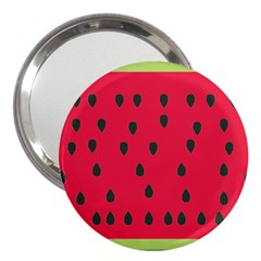 Watermelon Fan Red Green Fruit 3  Handbag Mirrors