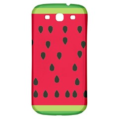 Watermelon Fan Red Green Fruit Samsung Galaxy S3 S Iii Classic Hardshell Back Case by Alisyart