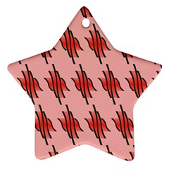 Variant Red Line Star Ornament (two Sides) by Alisyart