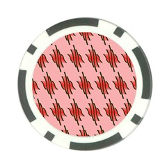 Variant Red Line Poker Chip Card Guard (10 Pack)
