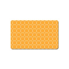 Yellow Circles Magnet (name Card) by Alisyart