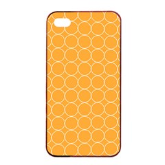 Yellow Circles Apple Iphone 4/4s Seamless Case (black) by Alisyart