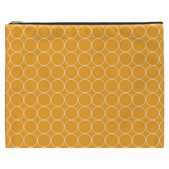 Yellow Circles Cosmetic Bag (xxxl)