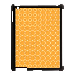 Yellow Circles Apple Ipad 3/4 Case (black)