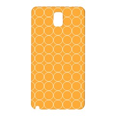 Yellow Circles Samsung Galaxy Note 3 N9005 Hardshell Back Case by Alisyart